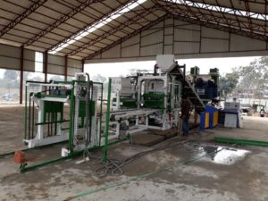 successful paver block making machine installation in india